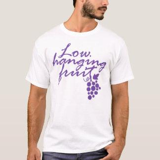 Low Hanging Fruit Grapes Wine Lover Gift Vineyard T-Shirt
