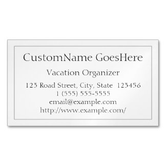 Low-Key Vacation Organizer Magnetic Business Card