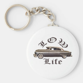 Low Life Oldsmobile Lowrider Basic Round Button Keychain