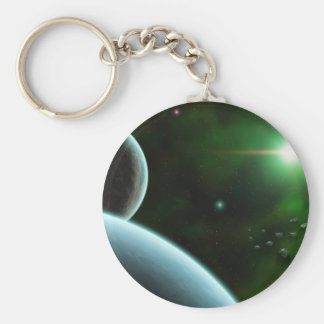 Low Orbit Basic Round Button Keychain
