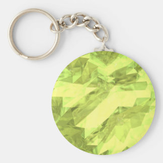 Low poly abstract basic round button keychain