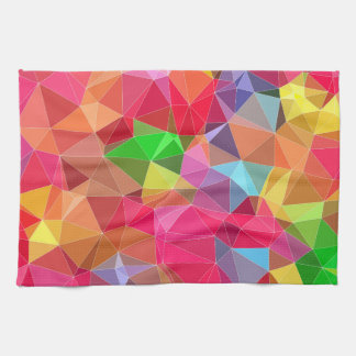 low poly background abstract pattern bright colors kitchen towel