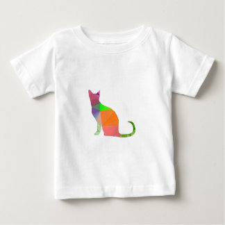 Low Poly Cat Silhouette Baby T-Shirt
