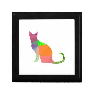 Low Poly Cat Silhouette Gift Box
