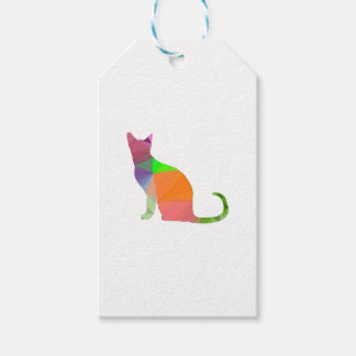 Low Poly Cat Silhouette Gift Tags