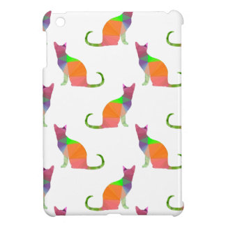Low Poly Cat Silhouette Pattern iPad Mini Case