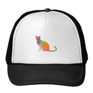 Low Poly Cat Silhouette Trucker Hat