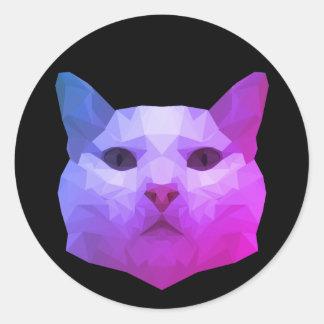 Low Poly Cat Sticker