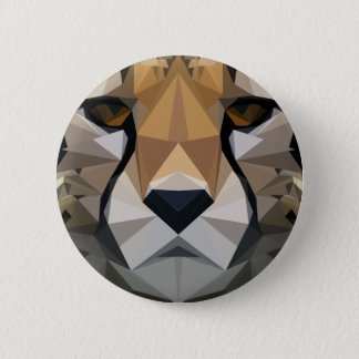 Low Poly Cheetah 2 Inch Round Button