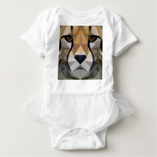 Low Poly Cheetah Baby Bodysuit