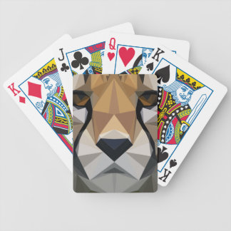 Low Poly Cheetah Bicycle Playing Cards
