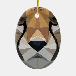 Low Poly Cheetah Ceramic Ornament