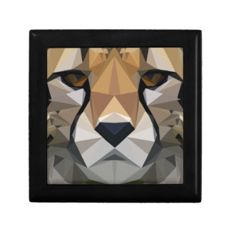 Low Poly Cheetah Gift Box