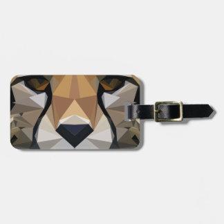 Low Poly Cheetah Luggage Tag