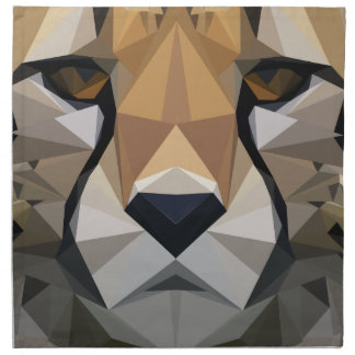 Low Poly Cheetah Napkin