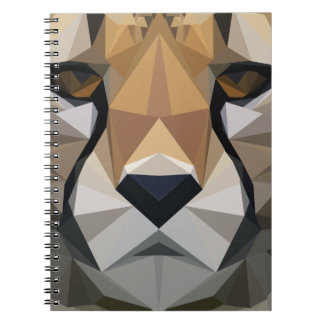 Low Poly Cheetah Notebook