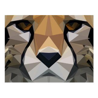 Low Poly Cheetah Postcard