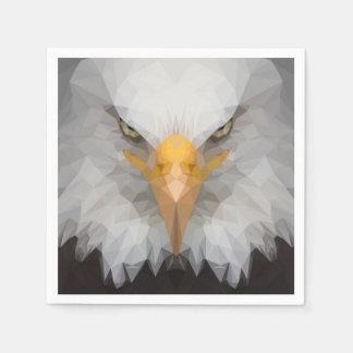 Low poly eagle napkins