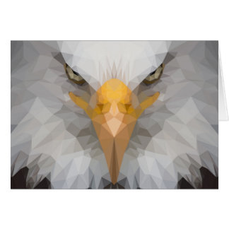 Low poly eagle note card