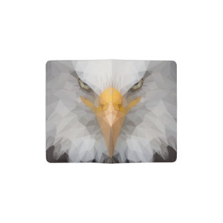 Low poly eagle notebook