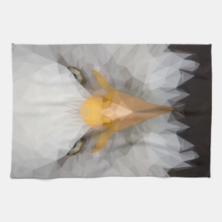 Low poly eagle towel