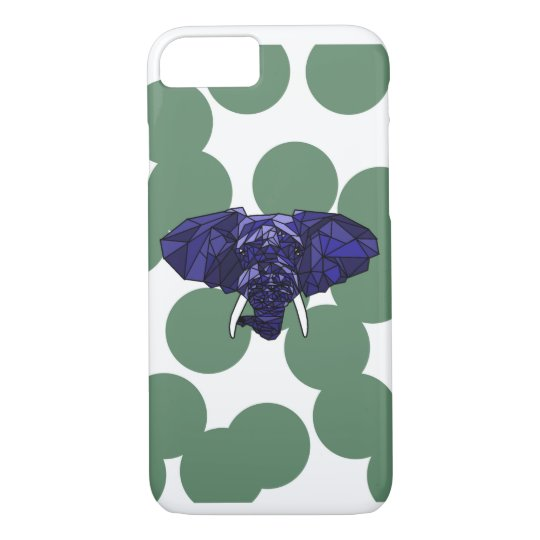 low poly elephant. iPhone 7 case