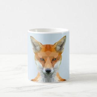 Low poly fox mug