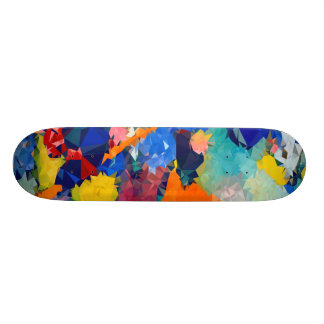 """Low poly Red & Blue Skateboards 17¾"""""""