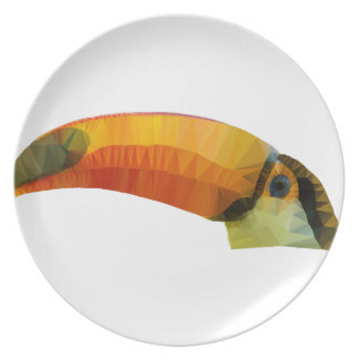 Low Poly Toucan Plate