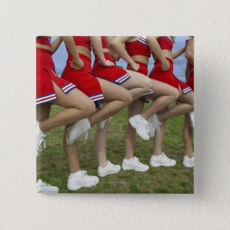Low Section View of a Group of Cheerleaders 2 Inch Square Button