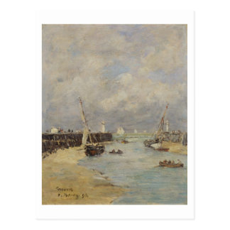 Low Tide at Trouville, 1895 (oil on panel) Postcard