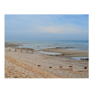 Low tide Bexhill on Sea Postcard