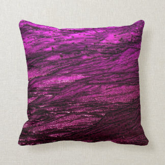 Low tide - fuchsia throw pillow