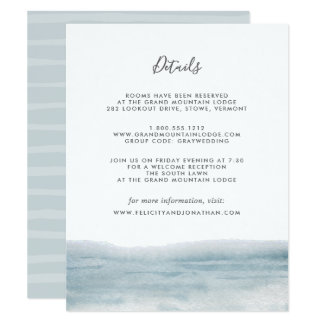 Low Tide Guest Information Card