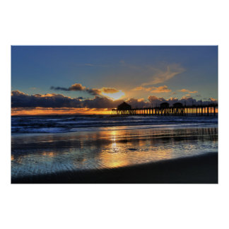 Low Tide Sunset Poster