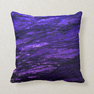 Low tide - violet throw pillow