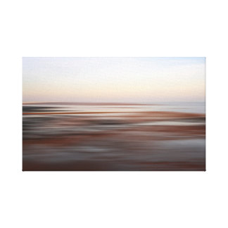 Low tide wintery beach canvas print