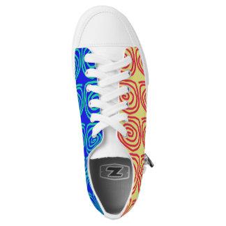 Low Top Shoes in Split Colours