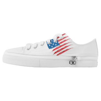 Low Tops scratched american flag