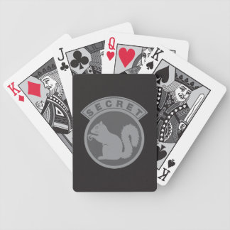 Low Vis Secret Squirrel Bicycle Playing Cards