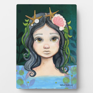 Lowbrow pop surrealism Mermaid Lagoon Painting Plaque