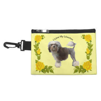 Lowchen and Yellow Roses Accessory Bag
