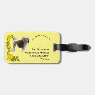 Lowchen and Yellow Roses Luggage Tag