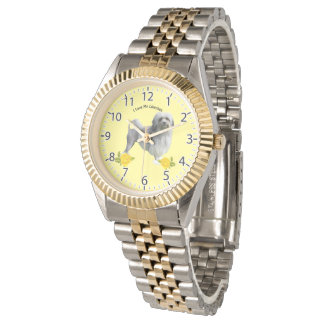 Lowchen and Yellow Roses Watch