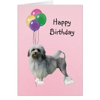 Lowchen, Birthday Balloons Card