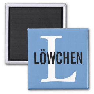 Löwchen Breed Monogram Design Magnet