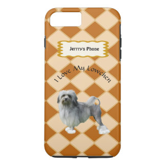 Lowchen on Argyle add name iPhone 8 Plus/7 Plus Case