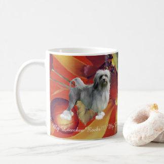 Lowchen on Autumn Floral Coffee Mug