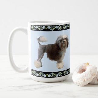 Lowchen on Black Blue Bells Coffee Mug