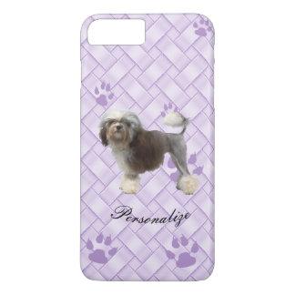 Lowchen on Lavender Weave with pawprints iPhone 8 Plus/7 Plus Case